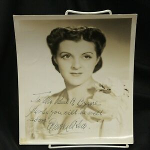 Emma Otero Cuban Coloratura Soprano Hand Signed Sepia Photo Bruno Hollywood #2