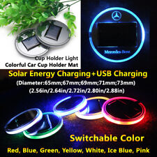 1pcs Solar Energy Coaster Car LED Light Lamp Accessories For Benz Lights Parts
