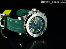 Invicta Mens 52mm Pro Diver OCEAN MASTER GREEN Dial Green & Silver Tone SS Watch