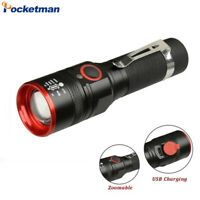 Ultra Bright 50000LM T6 LED Flashlight Rechargeable 3 Modes Zoom Torch 18650