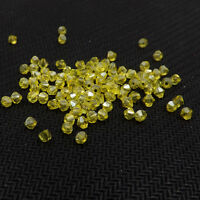 #5301 DIY  jewelry 3mm/4mm Glass Crystal Bicone bead 1000pcs Lemon yellow AB