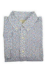 Club Monaco Mens White Floral Slim Fit S/s Button Down Shirt X-large XL 3572-4