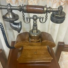 Antique Brass & Wooden Telephone Maharaja Style Nautical Home Decor