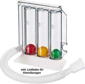 Atemtrainer Atemübungsgerät 3 Kammer System Lungentrainer Gerät mit Atem Übungen