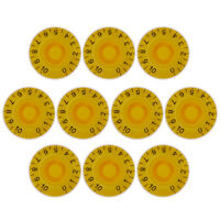 10Pcs Yellow Speed Knob Control Knobs for Electric Guitar Parts Replacement