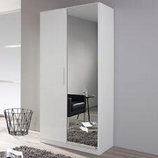 Garderobenschrank Minosa Flur Kleiderschrank in weiß Hochglanz 91 cm