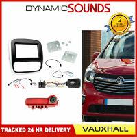 Double Din Autoradio Carénage Fixation Kit avec Caméra Inversée pour Opel Vivaro