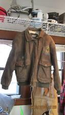 Izzi Brown Bomber Jacket Air Sea Rescue HB 21 Ace & Jack Of Spade Size Large