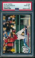 2018 Topps Series 1 Victor Robles RC #166 Batting PSA 10 Gem Mint Card Rookie