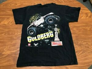 MENS VINTAGE 2000 WCW BILL GOLDBERG MONSTER TRUCK WRESTLING SHIRT SIZE MEDIUM