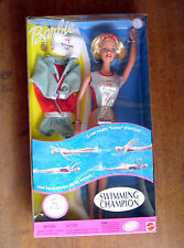 BARBIE Official Sydney 2000 Olympic Swimming Champion Barbie Doll ~ Really Swims