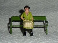 """Johillco (John Hill & Co) Vintage Lead """"Woman On Bench"""" Excellent Cond F/S"""