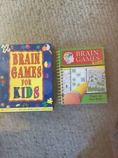 Set Of 2 Books, Brain Games For Kids.  See Pictures.
