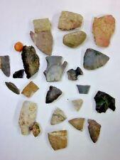 Lot of Arrowheads Flint Rocks from Southern Indiana Fields