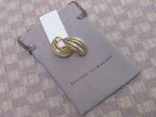 "NEW DAVID YURMAN ""LANTANA"" 18KT YELLOW GOLD DIAMOND HOOP EARRINGS (retail $5200)"