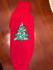 Dog Christmas Sweater Red w Green Embellished Christmas Tree L/XL Never Worn
