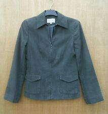 NEXT size  Green/Grey Tencel/Linen blend fully lined zip up jacket