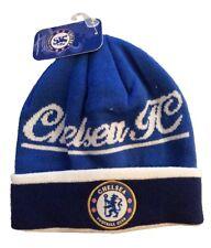 CHELSEA FC SOCCER BEANIE CAP HAT SKULLIE WINTER AUTHENTIC & OFFICIAL - NEW !!