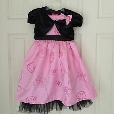 S 6 Fancy Baby Girl Hello Kitty Princess Party Dress Vest Top Pink New Easter