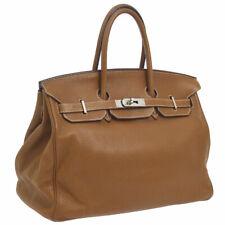 cdb31da4e9 Auth HERMES BIRKIN 35 Hand Bag Brown Traurillon Clemence France Vintage  NR12902