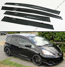 2009-2014 2ND GEN HONDA FIT GE8 MUGEN STYLE WINDOW VISOR RAIN GAURD CLIPS+TAPE