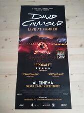 "DAVID GILMOUR LIVE AT POMPEII Original Concert Poster 12x27"" PINK FLOYD"