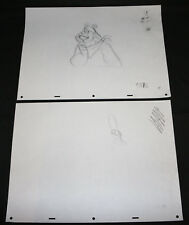 Tony the Tiger & Dig'em Frog Kellogg's Tv Cereal Animation 2pc Pencil Art #19