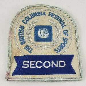 Vintage The British Columbia Festival Of Sports SECOND Patch Crest BC Canada