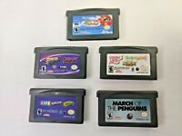 Game Boy Advance GBA Kids Video Game Lot of 5 - Cartridges Only - Scooby Doo Etc