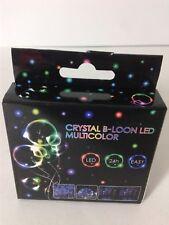 PALLONCINO TRASPARENTE ROTONDO + LED CRYSTAL B-LOON MULTICOLOR  FESTA PARTY DJ
