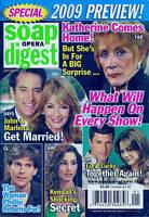 Soap Opera Digest Magazine January 6 2009 Preview Ingo Rademacher Jeff Branson