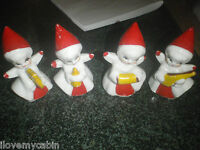 Vintage Christmas Angel Ornaments With Musical Instruments Porcelain Ceramic