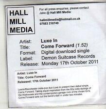 (CU102) Luxe In, Come Forward - 2011 DJ CD