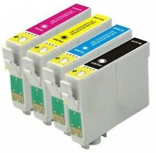 4 Ink Cartridges for Epson Stylus non-oem Replaces Epson T1291-4 (T1295) Apple