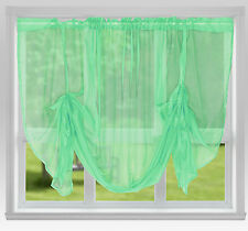 """Voile Tie Blinds 59"""" Wide or 87"""" Wide ~ Net Curtains & Slot Top Voile Panels"""