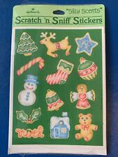 Vintage 80s Stickers Hallmark Scratch n Sniff Cookie Scent 1984 Sealed 2 Sheets
