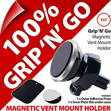 Grip 'N' Go Magnetic Vent Mount Holder for Mobile Smart Phone MP3 Sat Nav GPS