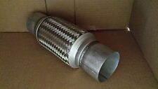 """3"""" X 8"""" X 12""""  STAINLESS STEEL EXHAUST FLEX PIPE OVERALL 12"""" HEAVY DUTY"""