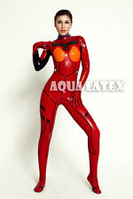 Shikinami Asuka Langley EVA02 Evangelion Red Plugsuit Battle Armor Latex Catsuit