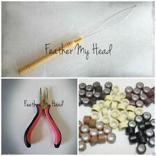Feather And Hair Extension Tool Kit, THREADING TOOL LOOPER- PLIERS -BEADS