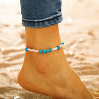1pcs Women Stone Beads Ankle Bracelet Chain Sandal Beach Foot Anklet Jewelry
