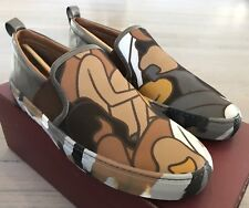 550$ Bally Herald 351 Multicolor Leather and Nylon Slip on Shoes size US 10.5