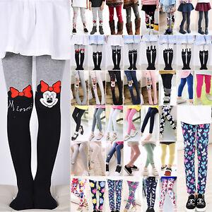 Kid Baby Girl Leggings Pants Full Length Tight Trousers Skinny Slim Long Socks