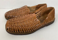 Sunsteps Sandals Men's Size 11.5 Brown Leather Handwoven Huarache Fisherman