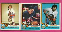 1974-75 OPC ISLANDERS FORTIER RC + POTVIN RC + STEWART RC  CARD (INV# C0622)