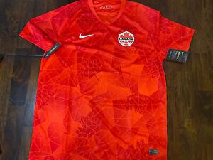 Nike Team Canada 2020/21 Home Stadium Soccer Jersey CU3741-600 Men's Size XL