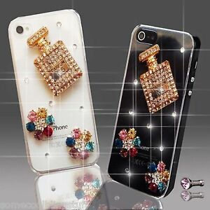 DIAMANTE PERFUME FLOWER DIAMOND MOBILE CASE COVER SAMSUNG iPHONE SONY HTC S6 S5