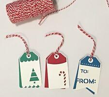 Bulk 6 Christmas Handmade Gift Swing Tags