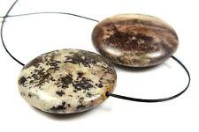 Australian Outback Jasper Disc Pendant Bead - 25mm x 7.5mm - 2 Pieces - 4355A