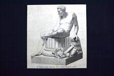 Il Genio della Guerra, statua in marmo del Conte Oldofredi Incisione del 1875